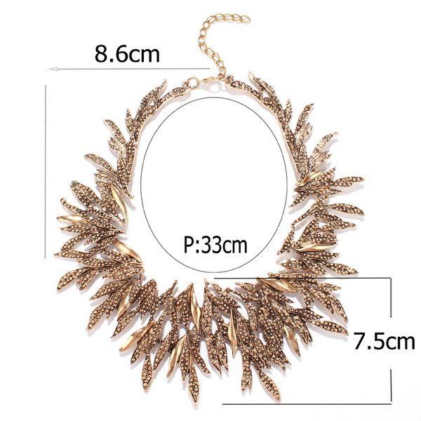 Chunky Alloy Leaf Necklace
