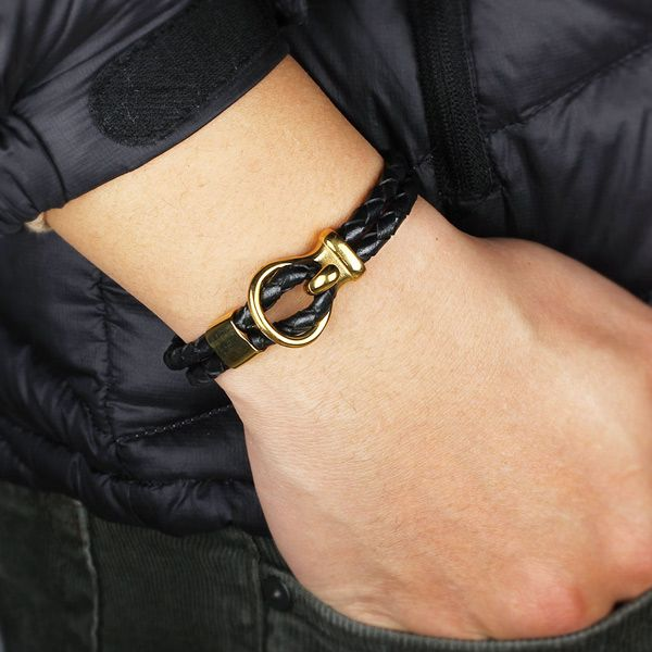 Vintage Artificial Leather Woven Rope Bracelet