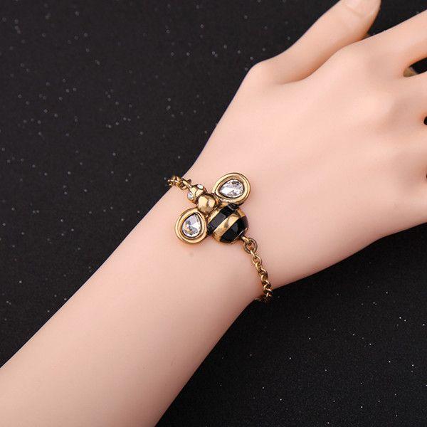Rhinestone Honeybee Bracelet