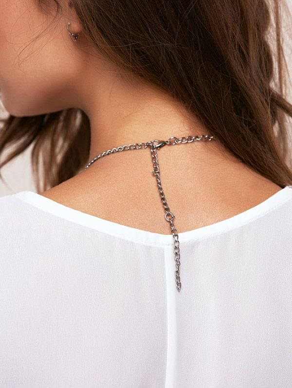 Coin Tassel Carved Statement Necklace