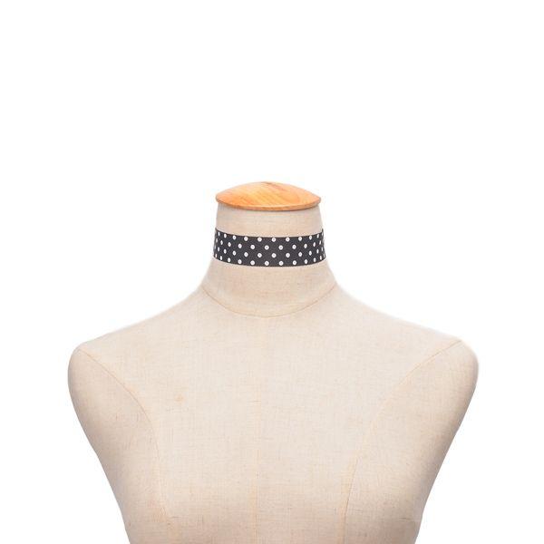 Vintage Spot Pattern Choker Necklace
