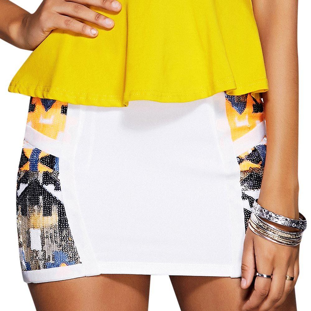 Stylish Sequined Mini Skirt For Women
