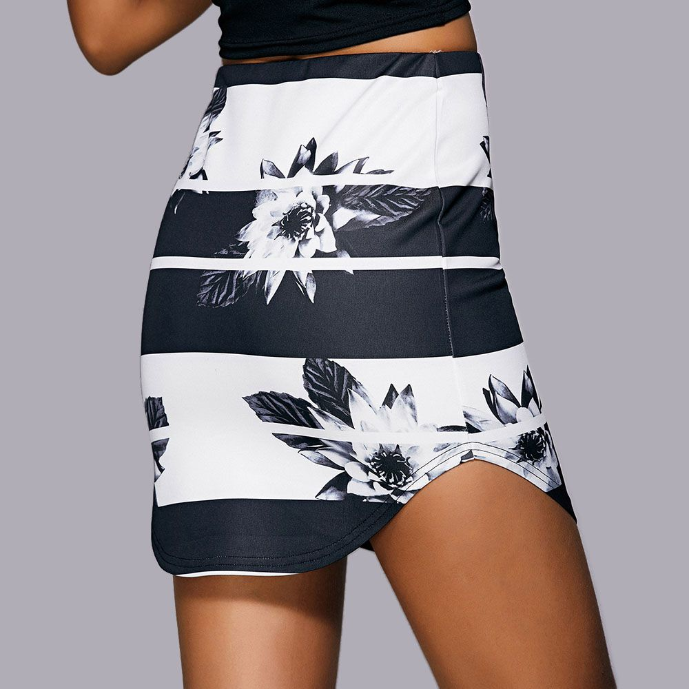 Casual Floral Print Mini Skirt For Women