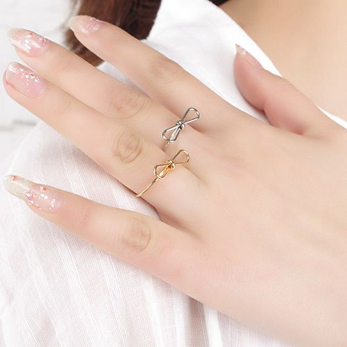 Hollow Out Bowknot Cuff Ring