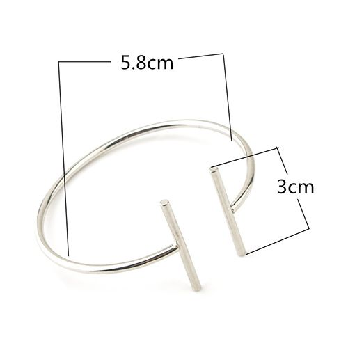 Cut Out Alloy Geometric Bracelet