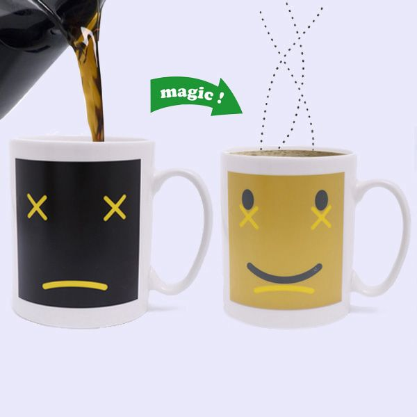 Amazing Expression Mood Pattern Ceramic DIY Color Changing Mug For Gifts
