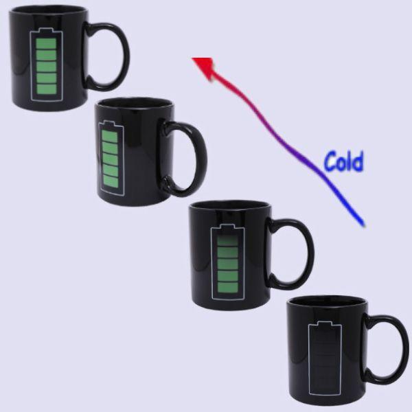 Amazing Charging Pattern Ceramic Heat Sensitive DIY Color Changing Mug For Gifts