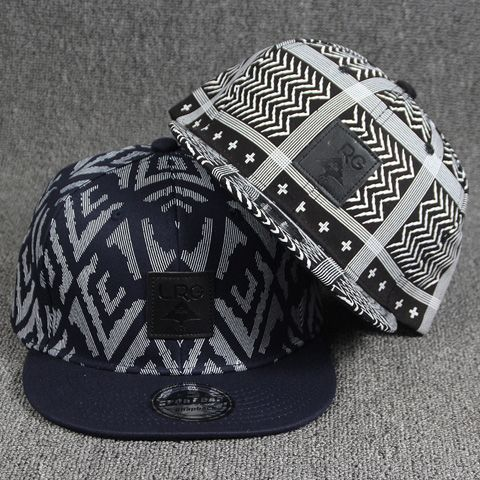 Stylish Square Labelling Embellished Stripe and Chevron Pattern Baseball Cap