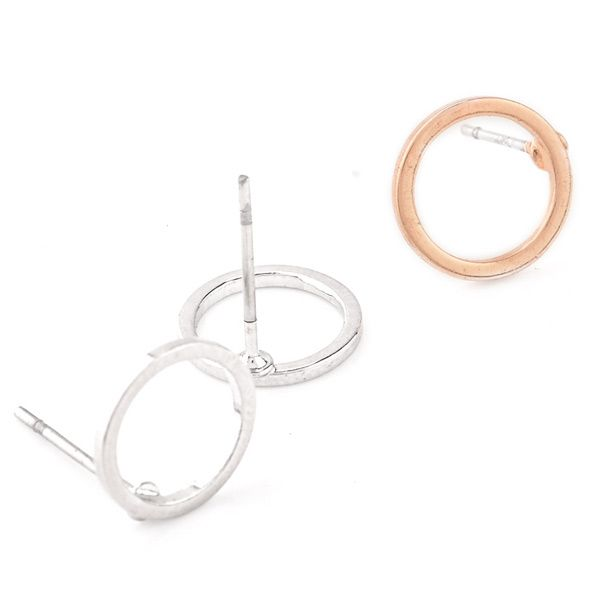 Pair of Alloy Hollow Out Circle Stud Earrings