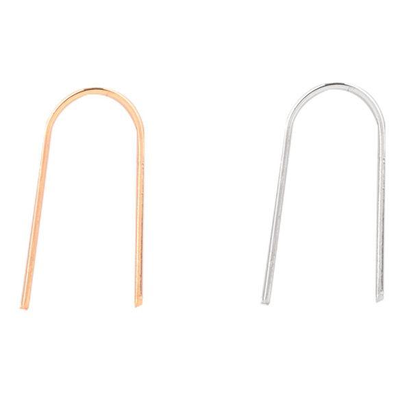 Pair of U Shape Alloy Earrings
