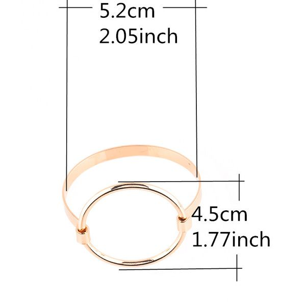 Hollow Out Big Round Circle Bracelet