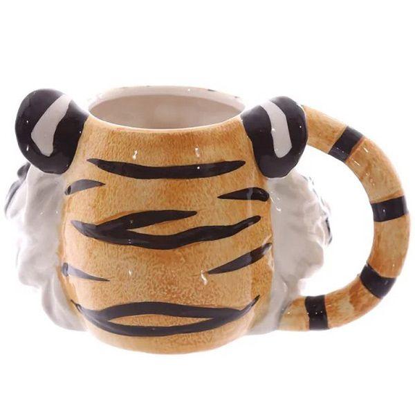 3D Painting Tiger Head Pattern Ceramic Coffee Mug