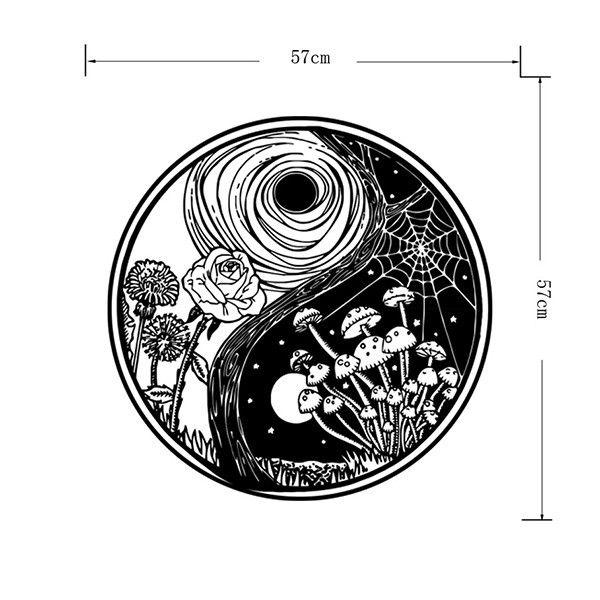 Creative Eight Diagrams Shape Landscape Pattern Round Wall Sticker