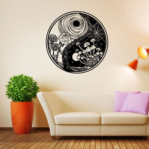 Creative Eight Diagrams Shape Landscape Pattern Round Wall Sticker