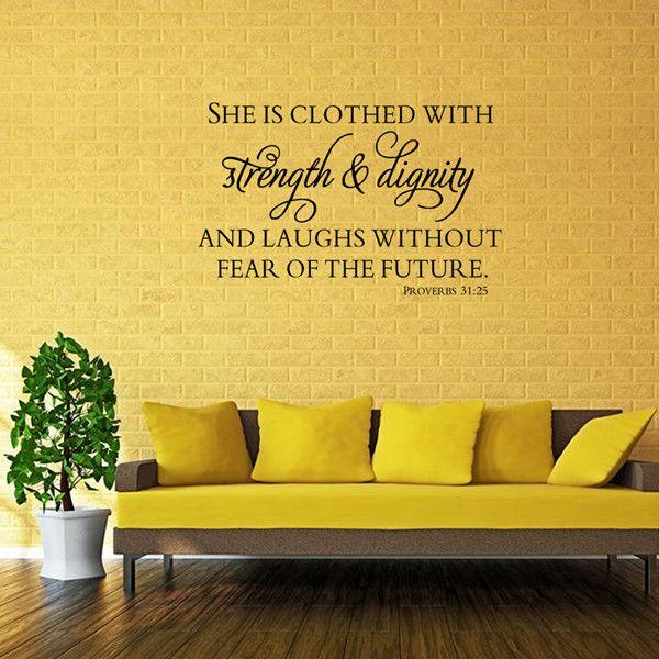 High Quality Waterproof Bible Proverbs Pattern DIY Wall Sticker