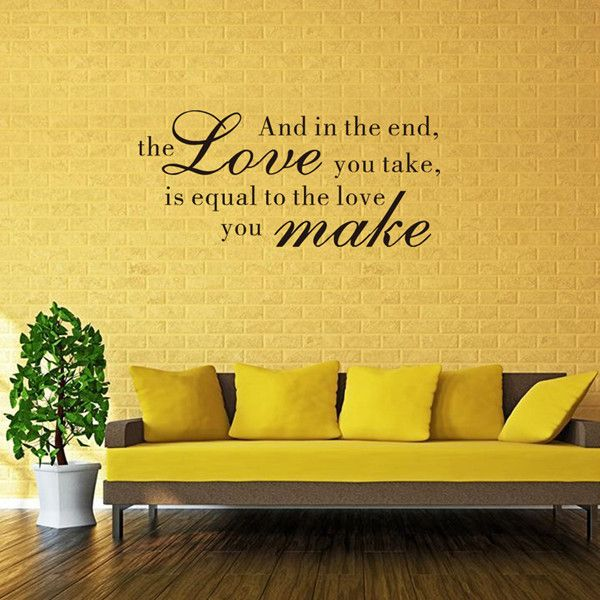 Chic Quality Waterproof DIY Bible Love Proverbs Pattern Wall Sticker