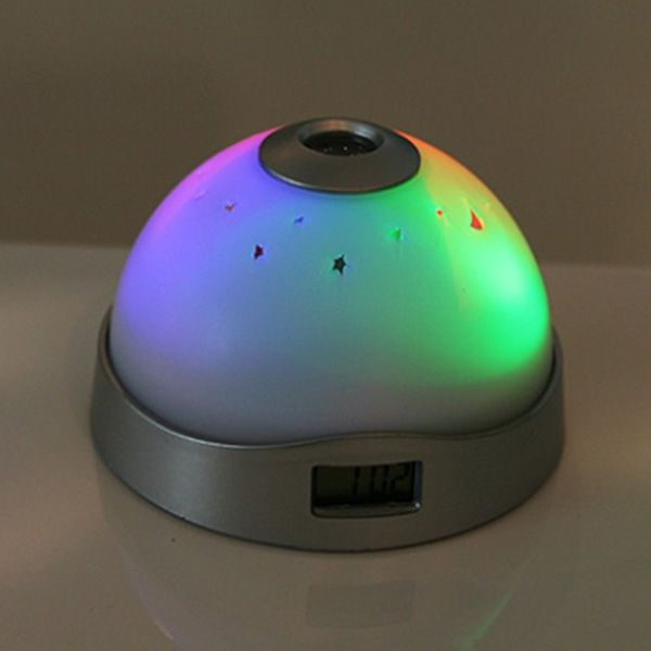Creative Dream LED Electronic Luminous Moon And Projection White Clock