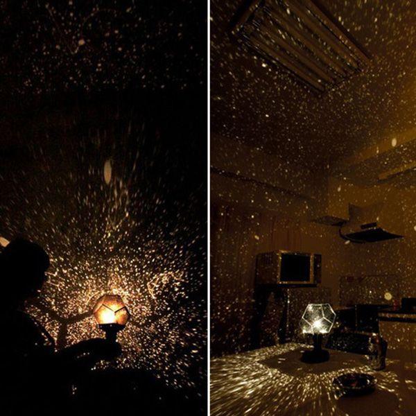 Romantic Electronic Super Bright Yellow Light Four Seasons Star Sky Projector Lamp