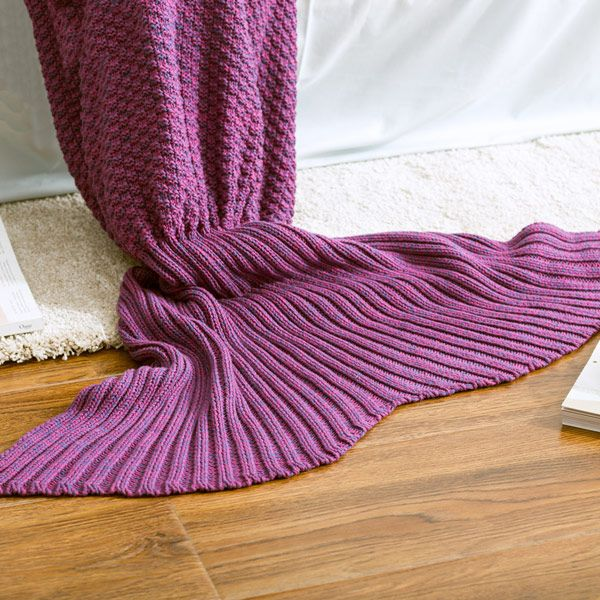 High Quality Knitted Sofa Bedding Mermaid Tail Blanket