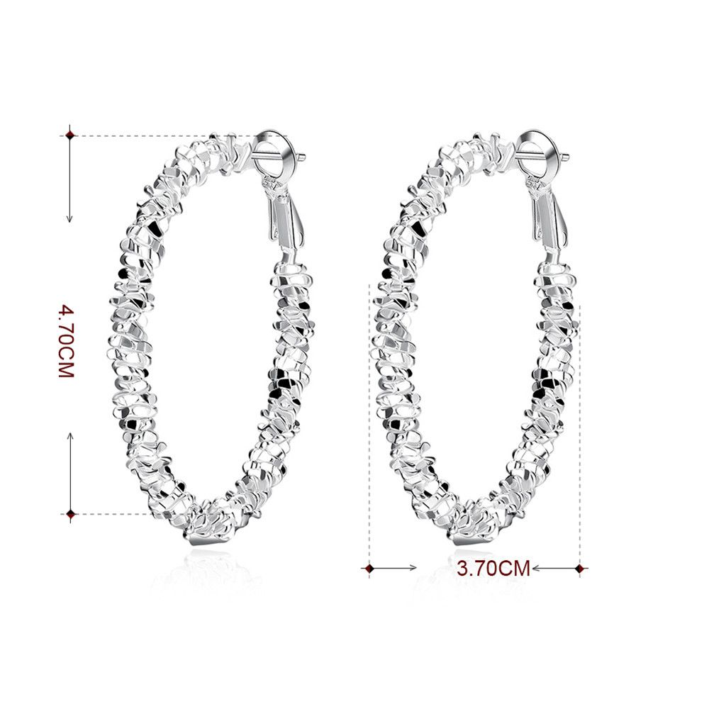 Pair of Geometric Shape Statement Hoop Earrings