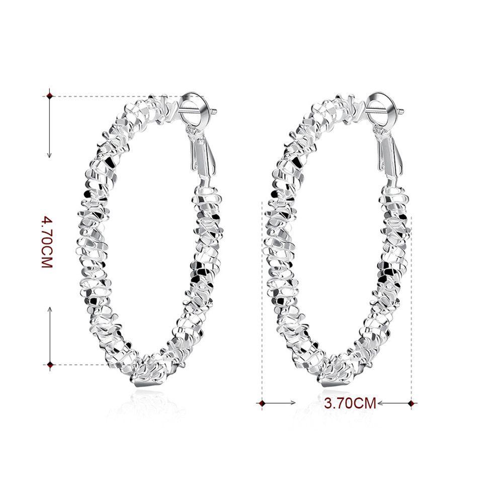 Pair of Geometric Shape Statement Hoop Earrings