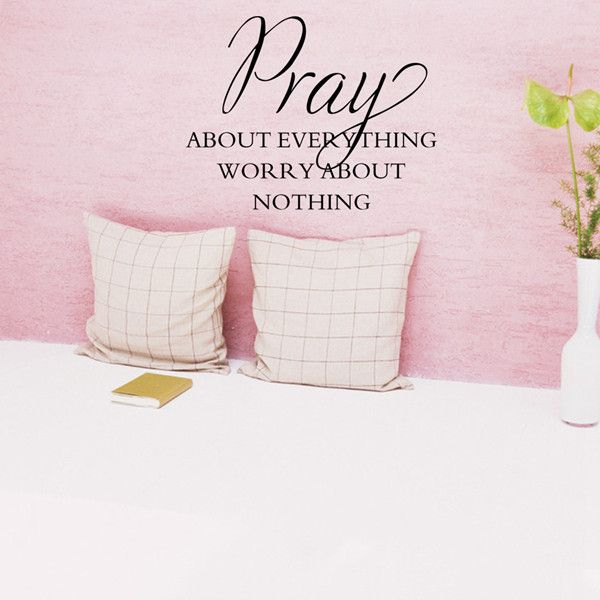 Simple Style Waterproof DIY Bible Pray Proverbs Pattern Wall Sticker
