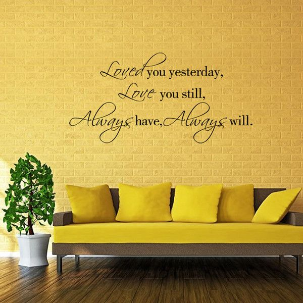 Chic Quality English Proverbs Pattern DIY Wall Sticker