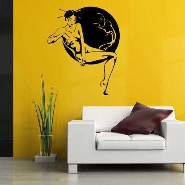 Elegant Women's Art Photo Design DIY Wall Sticker For Bedroom