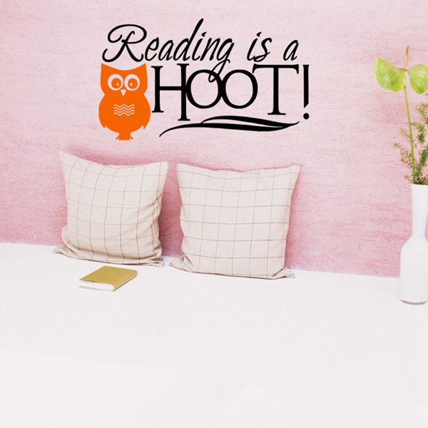 Creative Owl and Letters Pattern DIY Wall Sticker