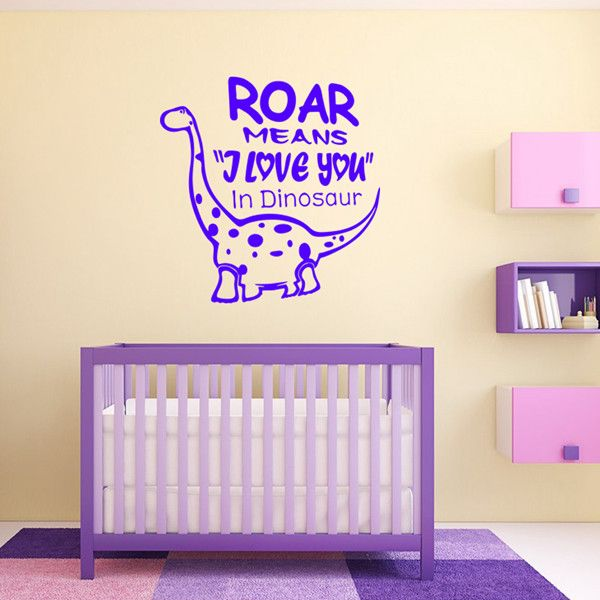 Sweet Waterproof Cartoon Mnosaurs Pattern DIY Wall Sticker