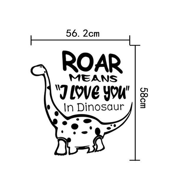 Sweet Waterproof Cartoon Mnosaurs Pattern DIY Wall Sticker