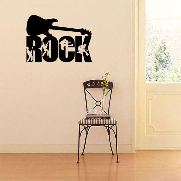 High Quality Waterproof Guitar Rock Design DIY Wall Sticker