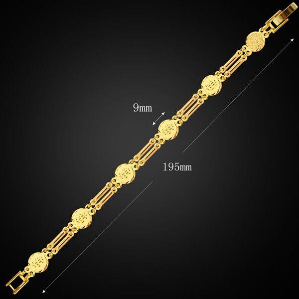 Vintage Alloy Dollar Sign Bracelet For Men