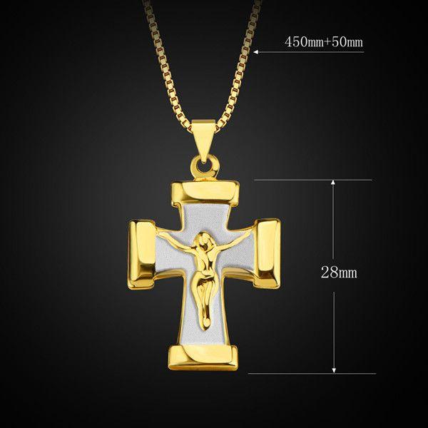 Vintage Crucifix Shape Pendant Necklace For Men