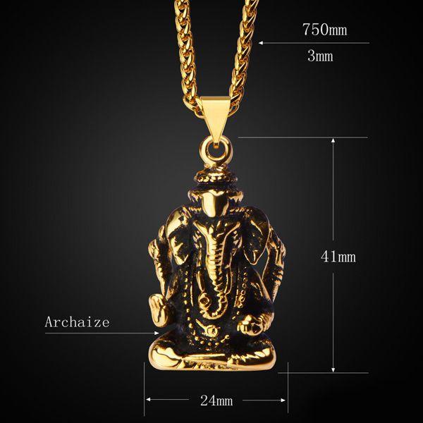 Vintage Elephant God Shape Necklace