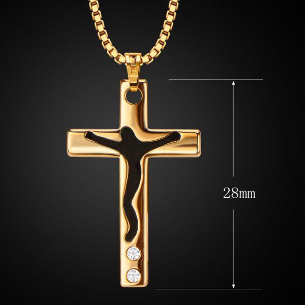 Rhinestone Cross Pendant Necklace