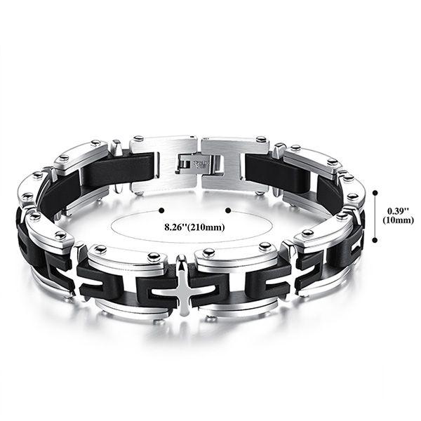 Punk Style Plastic Cross Geometric Health Bracelet For Men