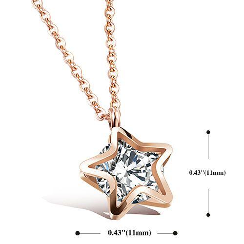 Rhinestone Filigree Star Pendant Necklace