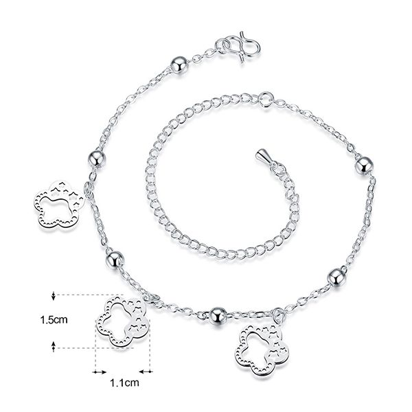 Cut Out Flower Star Charm Anklet