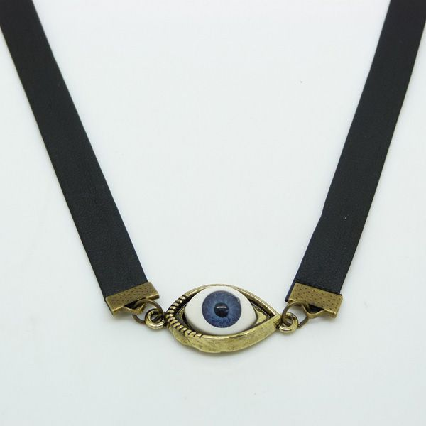 Stylish Faux Evil Eye Choker Necklace