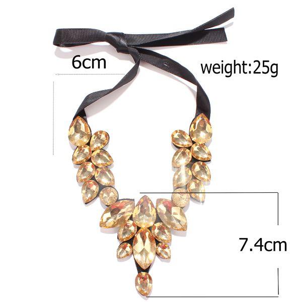 Vintage Faux Crystal Teardrop Necklace