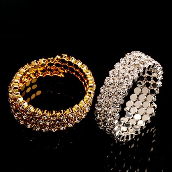 Tiered Round Rhinestone Hollow Out Bracelet