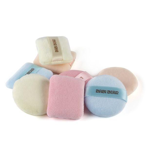 Stylish 2 Pcs Round and Square Calm Makeup Dry Use Powder Puffs