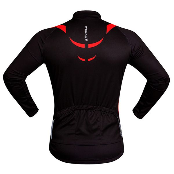 High Quality Breathable Zipper Long Sleeve Cycling Jersey For Unisex