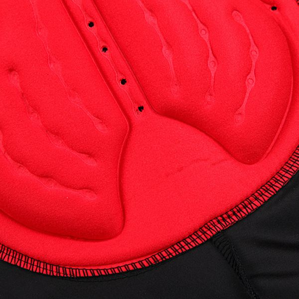 Practical Summer Outdoor Black With Red Gel Pad Cycling Pants For Unisex