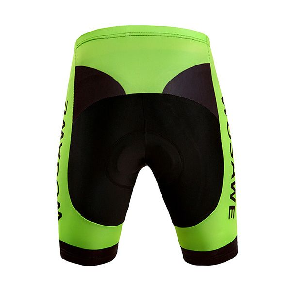 High Quality Black with Green Riding Sport Shorts with Silicone Cushion