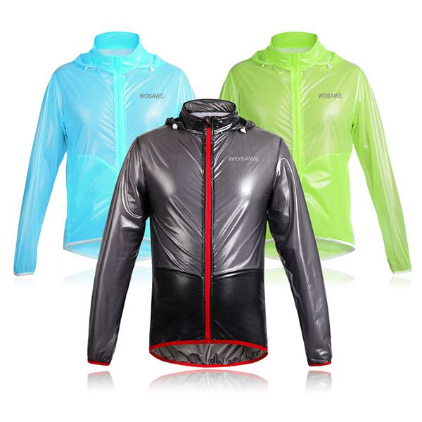 Stylish Outdoor Bicycle Solid Color Waterproof Raincoat Cycling Clothes