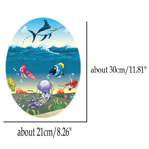 Colorful Cartoon Marine Life Toilet Waterproof Wall Stickers