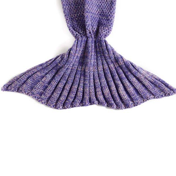Flouncing Sleeping Bag Mermaid Design Knitted Blanket and Throws For Kids