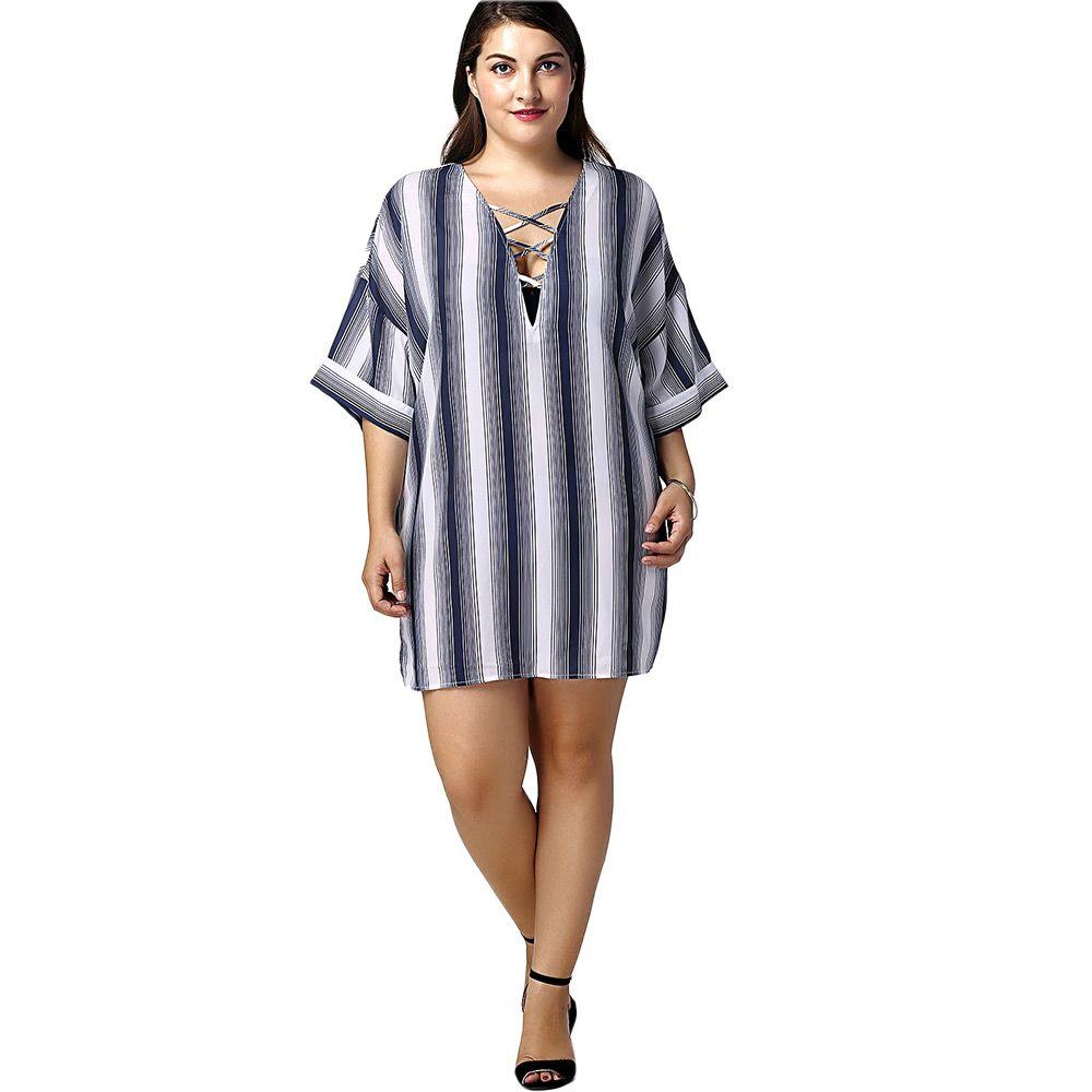 Fashionable Long Stripe Printed Shirts For Women
